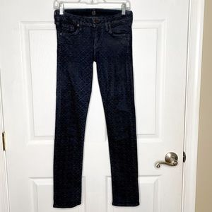 Citizens Of Humanity Racer Skinny Jeans Patterned